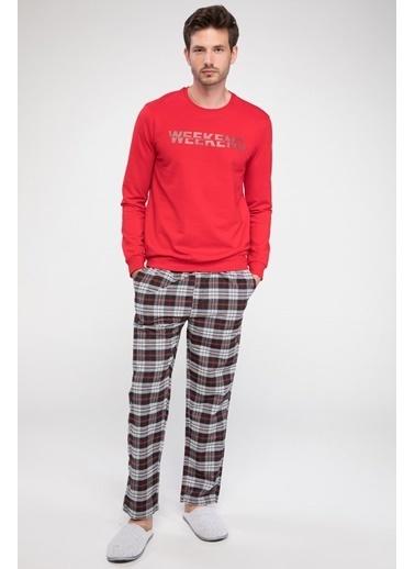 DeFacto Kareli Pijama Altı Siyah
